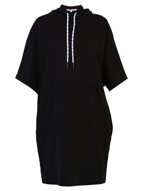 McQ Alexander McQueen Cotton Hoodie Dress in black