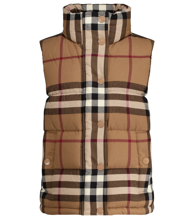 Burberry Vintage Check down vest in beige