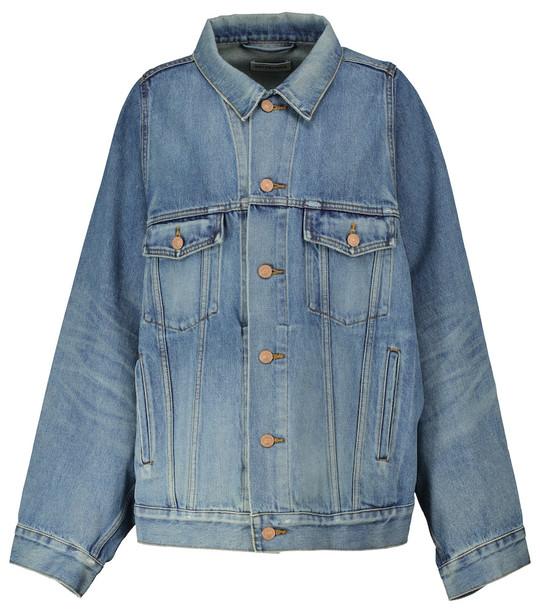 Balenciaga Oversized denim jacket in blue