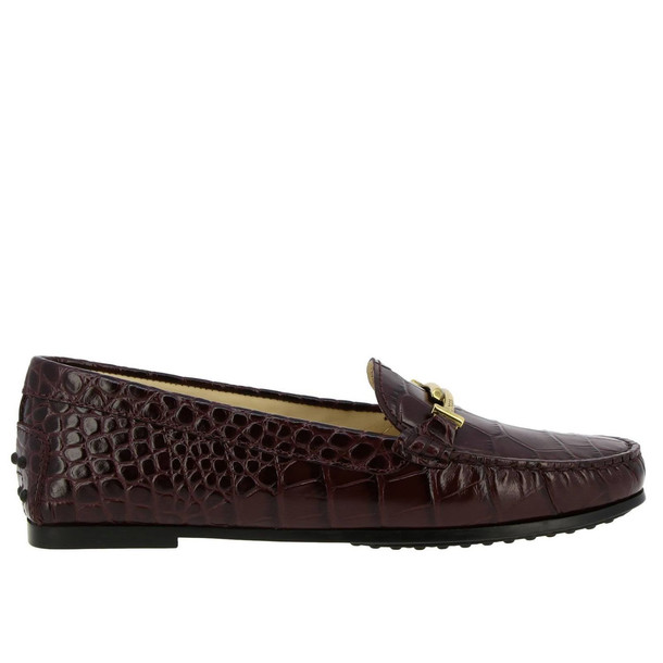 Tods Loafers Shoes Women Tods in burgundy