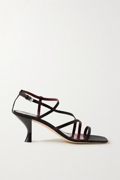 STAUD - Gita Satin Sandals - Black