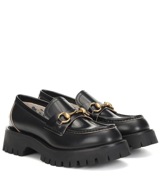 Gucci Horsebit leather loafers in black