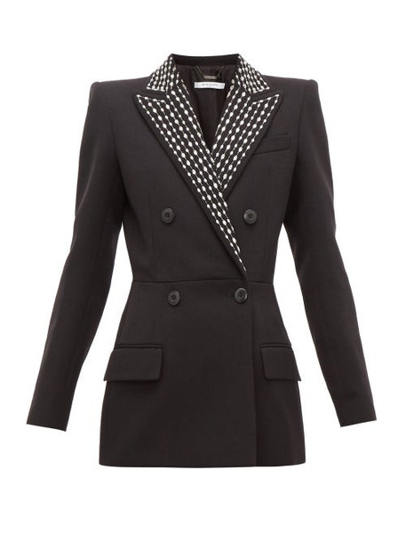 Givenchy - Crystal Embellished Wool Blend Drill Suit Jacket - Womens - Black