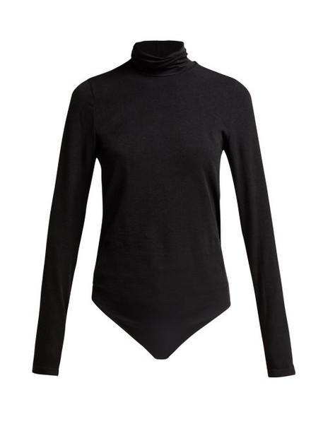 Wolford - Colorado Lax Fit Bodysuit - Womens - Black Grey
