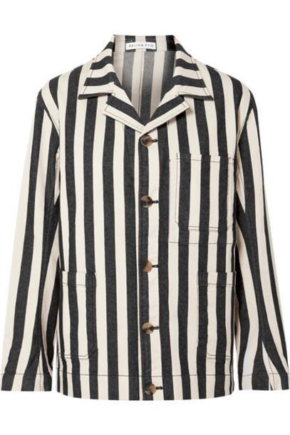 REJINA PYO - Billie Striped Denim Jacket - Black