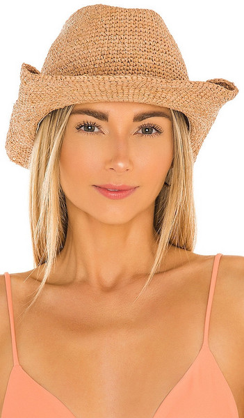 florabella Kendra Lux Hat in Brown in gold / rose