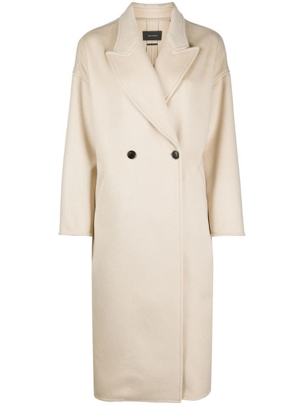 Isabel Marant Elliot coat in neutrals