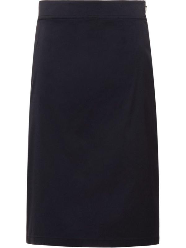 Prada stretch pencil skirt in blue