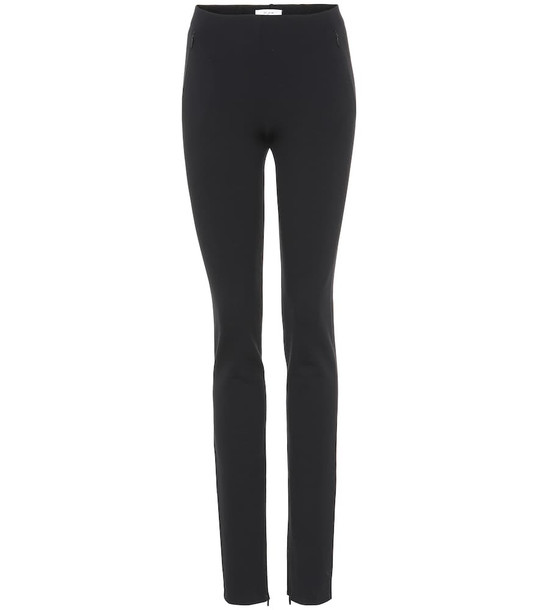 The Row Corza stretch leggings in black