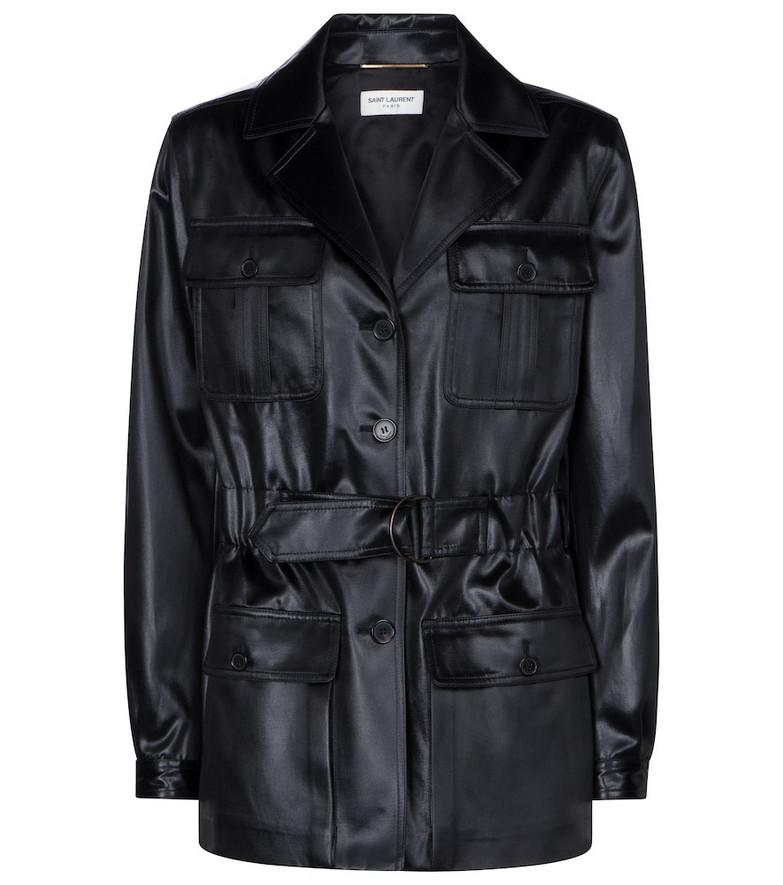 Saint Laurent Faux leather jacket in black