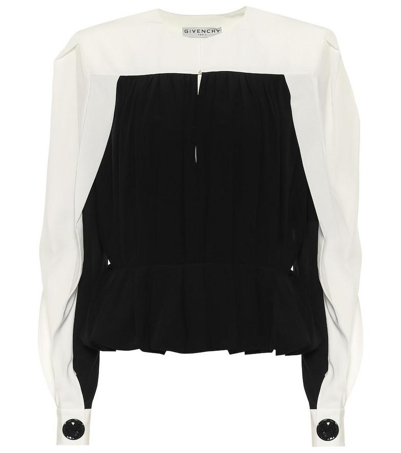Givenchy Silk-crêpe top in black