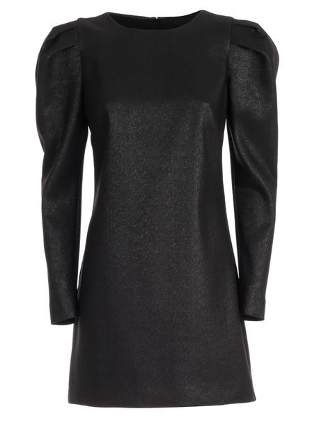 Parosh Dress L/s Lurex in nero