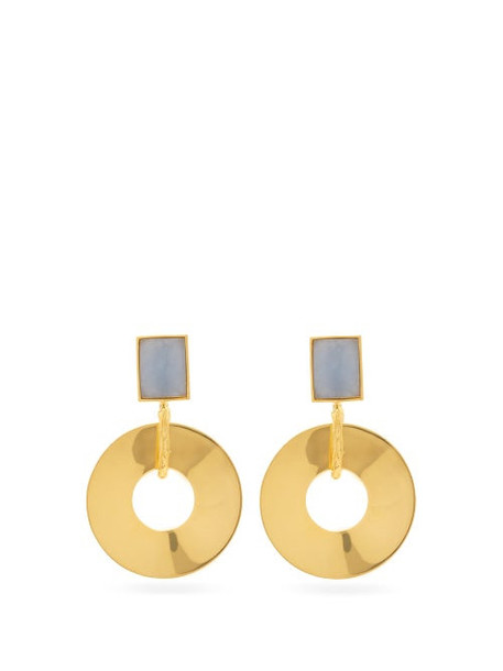 Lizzie Fortunato - Promenade Hour Angelite & Gold-plated Earrings - Womens - Gold