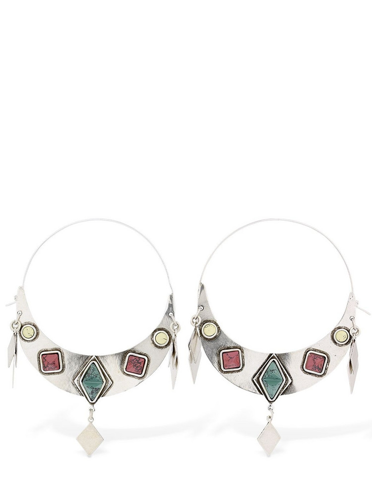 ISABEL MARANT Move Your Body Hoop Earrings in silver / multi