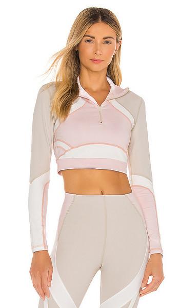 Vimmia X CB Half Zip Pullover Top in Cream in multi
