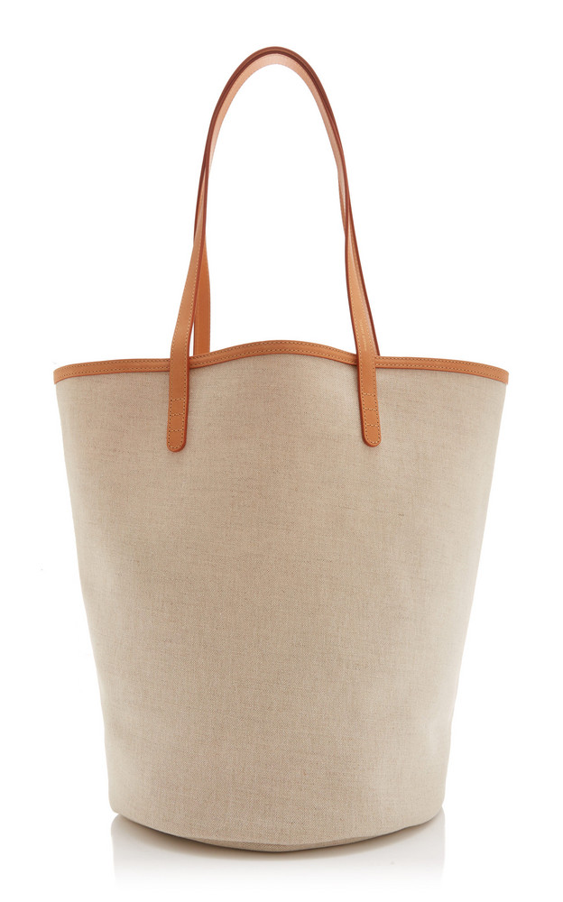 Mansur Gavriel Circle Canvas Bucket Bag in ivory