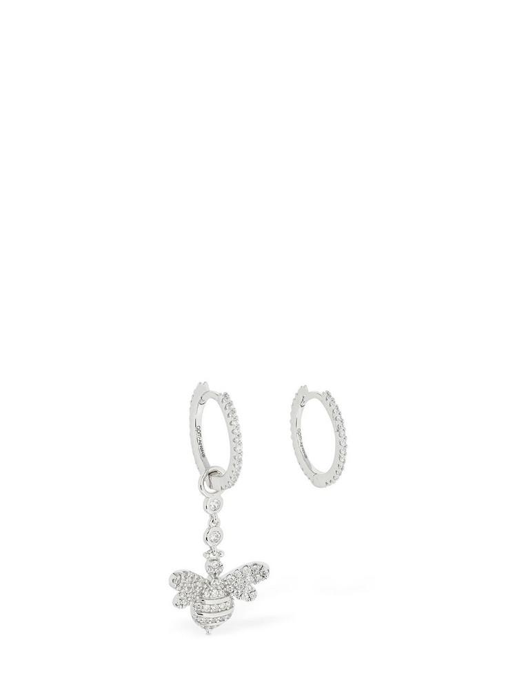 APM MONACO Asymmetric Bee Earrings in silver