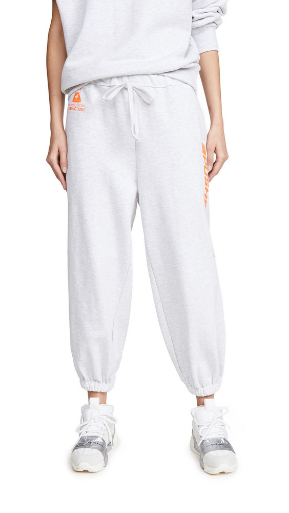 pushBUTTON Rolled Point Sweat Pants in grey