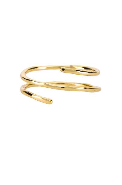 gorjana Taner Coil Ring in gold / metallic