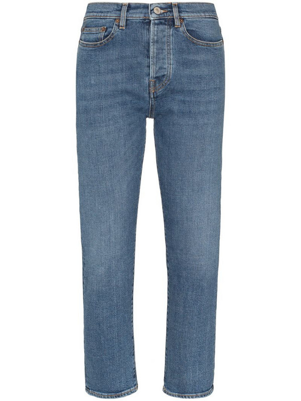 Jeanerica cropped straight-leg jeans in blue