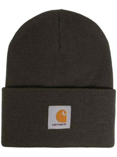 Carhartt WIP logo-patch beanie hat in green