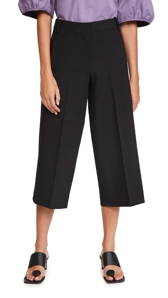 Tibi Anson Wide Leg Pants in black