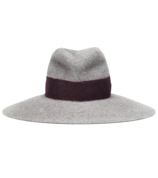 Lola Hats Strap felt hat in grey