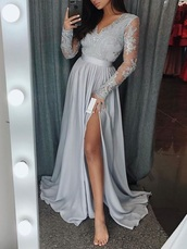 dress,v neck dress,maxi dress,formal dress,lace dress,slit dress,a line prom gowns