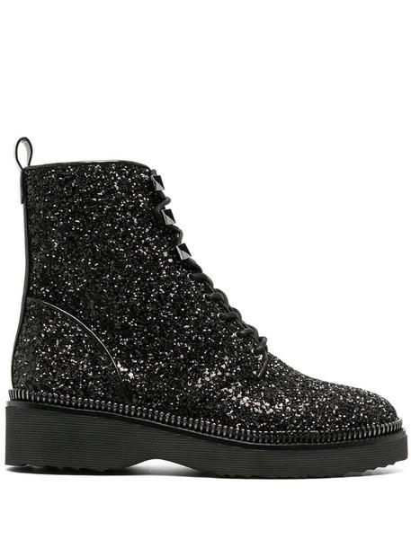 Michael Michael Kors Haskell combat boots in black