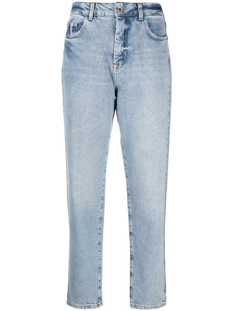 Patrizia Pepe cropped light-wash jeans in blue