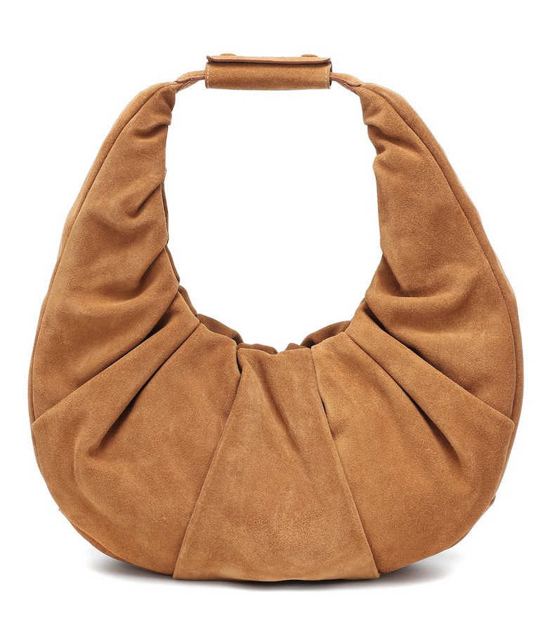 Staud Soft Moon Large leather tote in brown