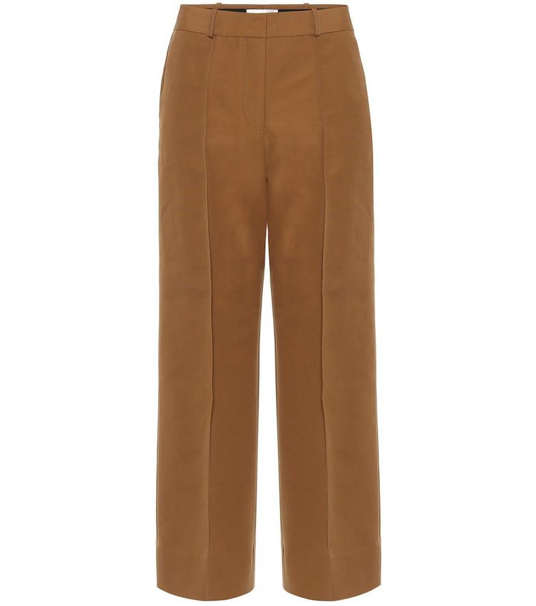 Victoria Victoria Beckham Cotton-blend twill culottes in brown