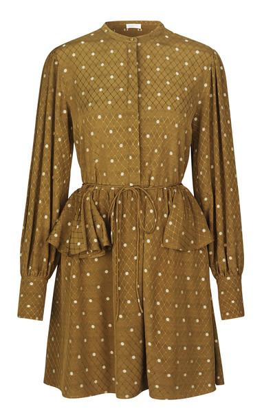 Stine Goya Lenita Ruffled Hip Dress in print