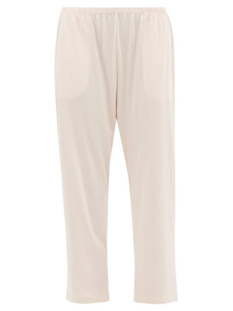Skin - Elasticated Waist Cotton Jersey Pyjama Trousers - Womens - Pink