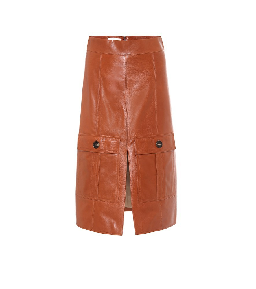 Chloé Leather skirt in brown
