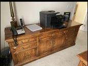home accessory,medium desk,oak,executive,credenza