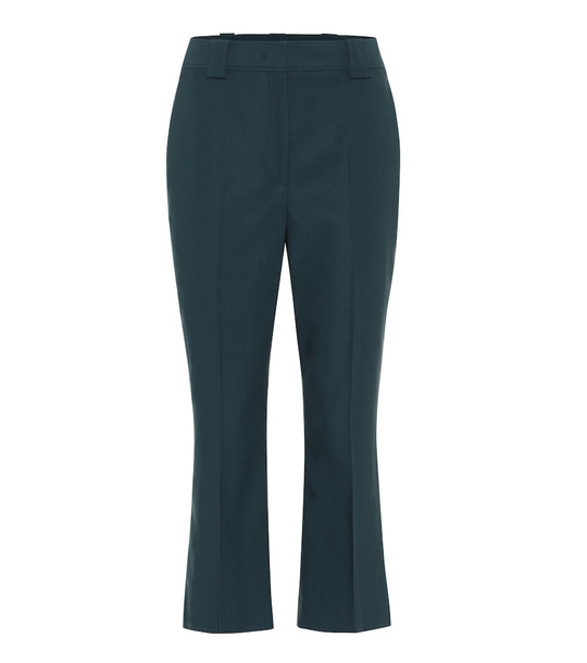Salvatore Ferragamo Slim-leg wool pants in blue