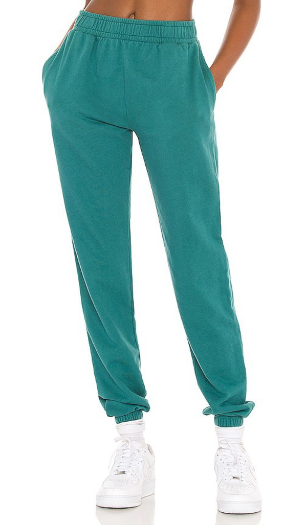 YEAR OF OURS Boyfriend Sweatpant in Teal in green