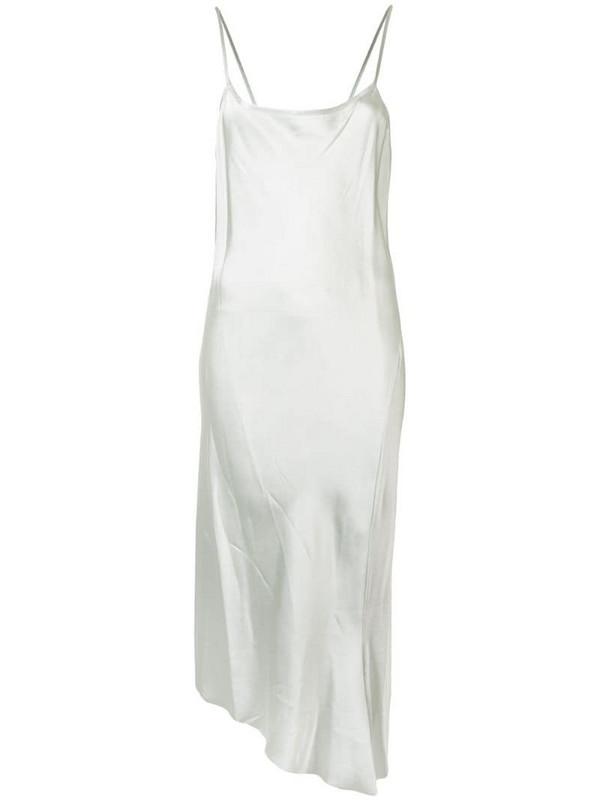 Ann Demeulemeester asymmetric slip dress in green