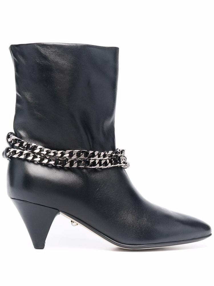 Alevì Alevì chain-detail leather boots - Black