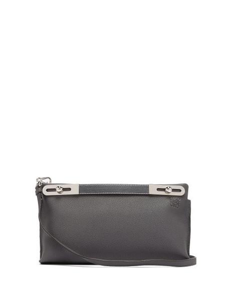Loewe - Missy Leather Cross Body Bag - Womens - Dark Grey