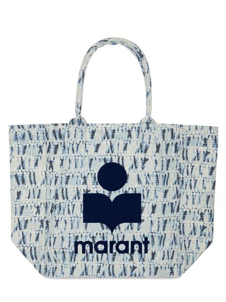 ISABEL MARANT Yenky Tie Dye Cotton Tote Bag in blue
