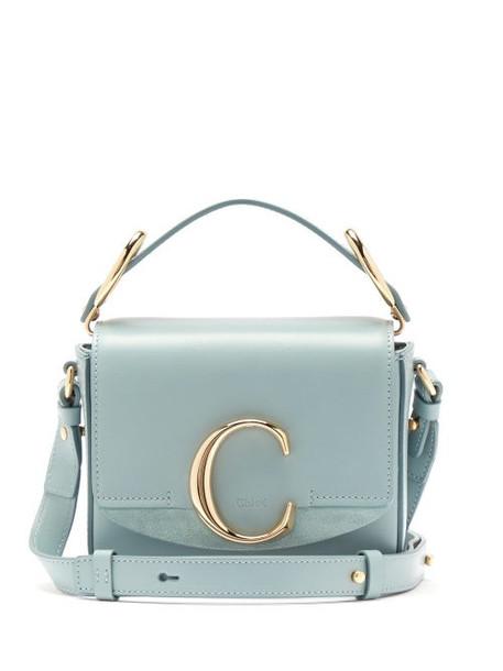 Chloé Chloé - The C Mini Leather Cross-body Bag - Womens - Blue