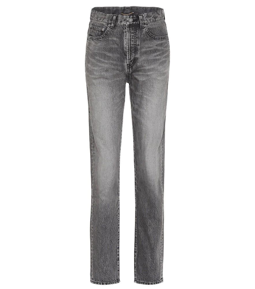 Saint Laurent High-rise slim-leg jeans in grey