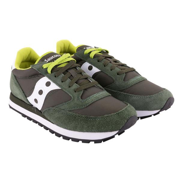 Saucony Jazz Original Nylon And Suede Sneakers in green