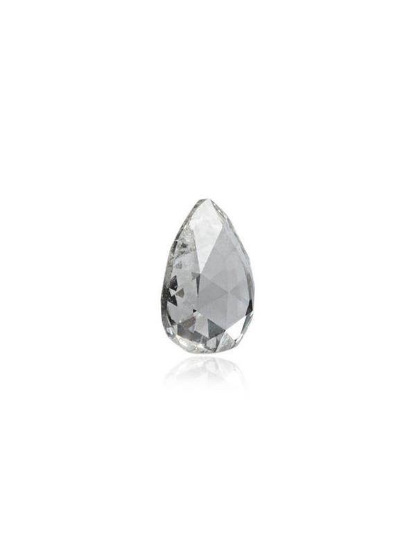 Loquet diamond heart necklace in metallic