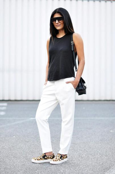 fashion landscape sunglasses pants t-shirt bag