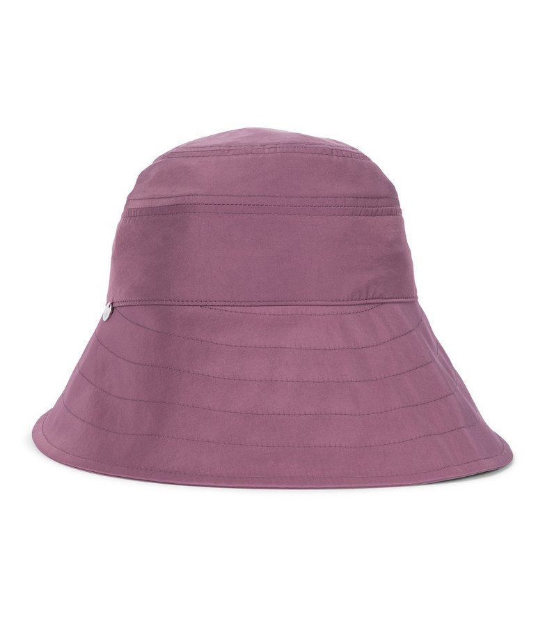 The Attico Nylon bucket hat in pink