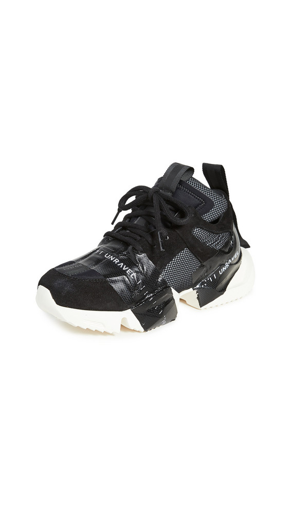 Unravel Project Tape Low Sneakers in black