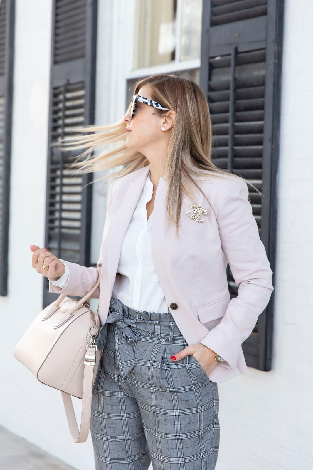 suburban faux-pas blogger jacket blouse pants bag shoes